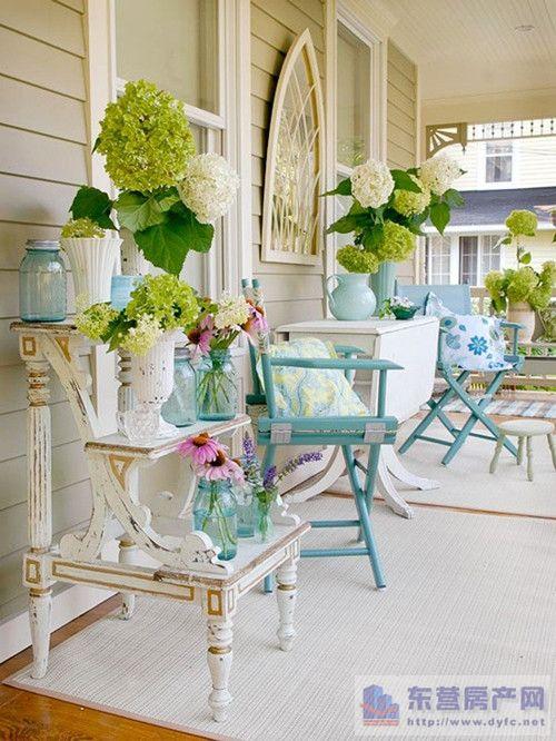 阳台装修效果图 田园风格装修效果图 轻松享受生活
