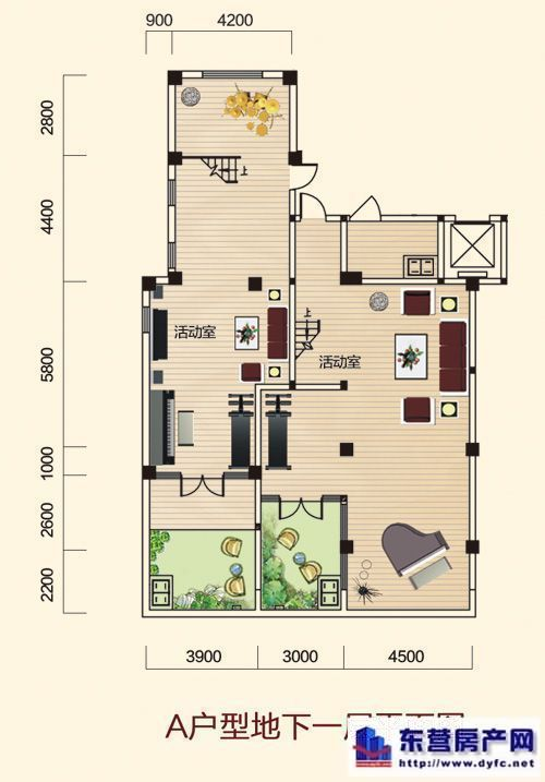 a户型地下一层平面图高清图片