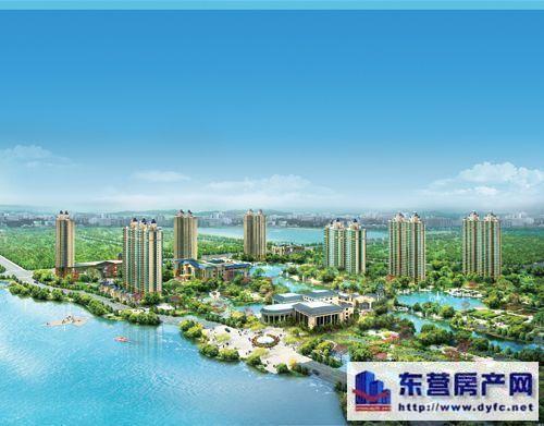 高层建筑群组成,项目定位为配套设施齐全的高档高层住宅居住高清图片