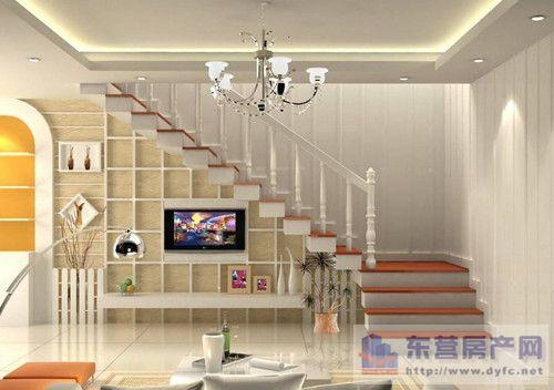 楼梯下电视背景墙如何设计装修合理利用空间