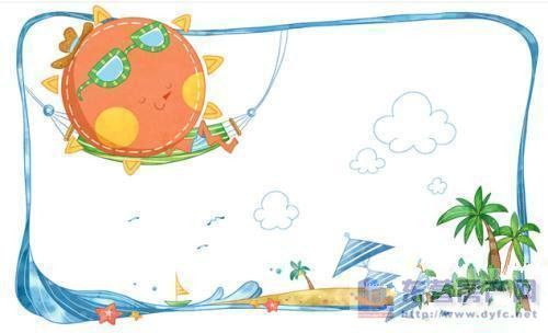 ppt 背景 背景图片 边框 儿童画 模板 设计 相框 500_304