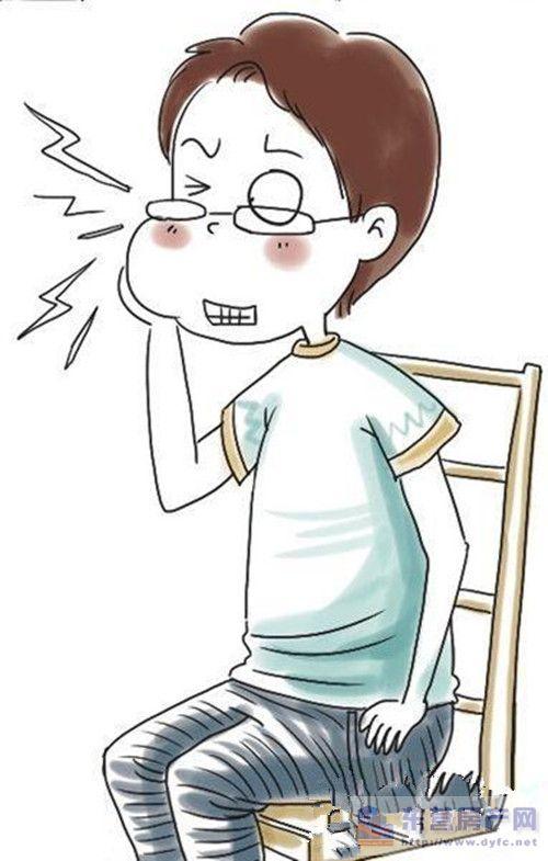 儿童牙疼卡通图案