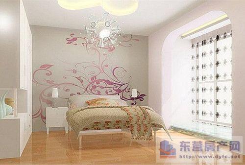 一,用手绘墙装饰卧室床头背景墙