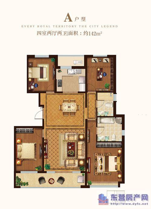 一层平房设计图 火炕 四室